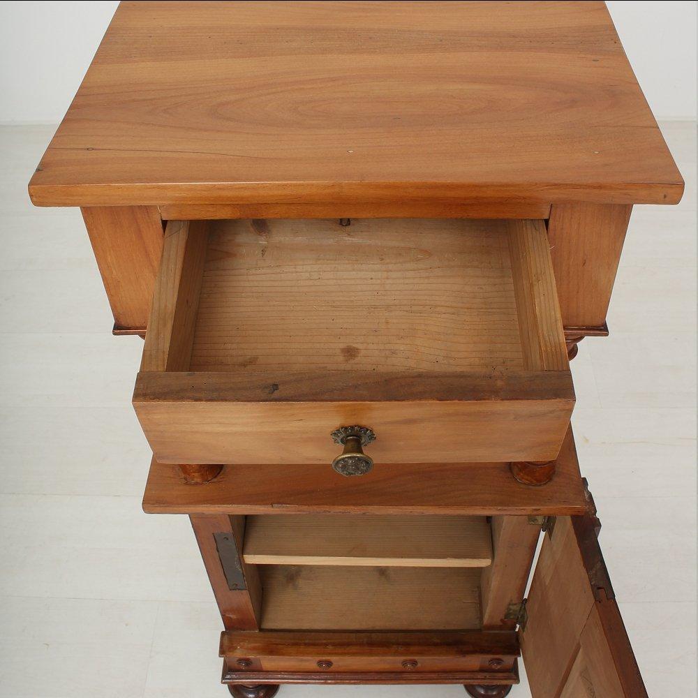 Petite table de chevet antique en m risier 1890s en vente - Petite table de chevet ...