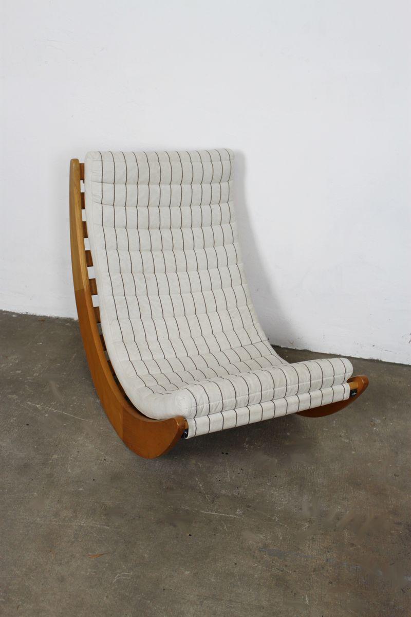 Relaxer 2 schaukelstuhl von verner panton f r rosenthal for Schaukelstuhl auf englisch