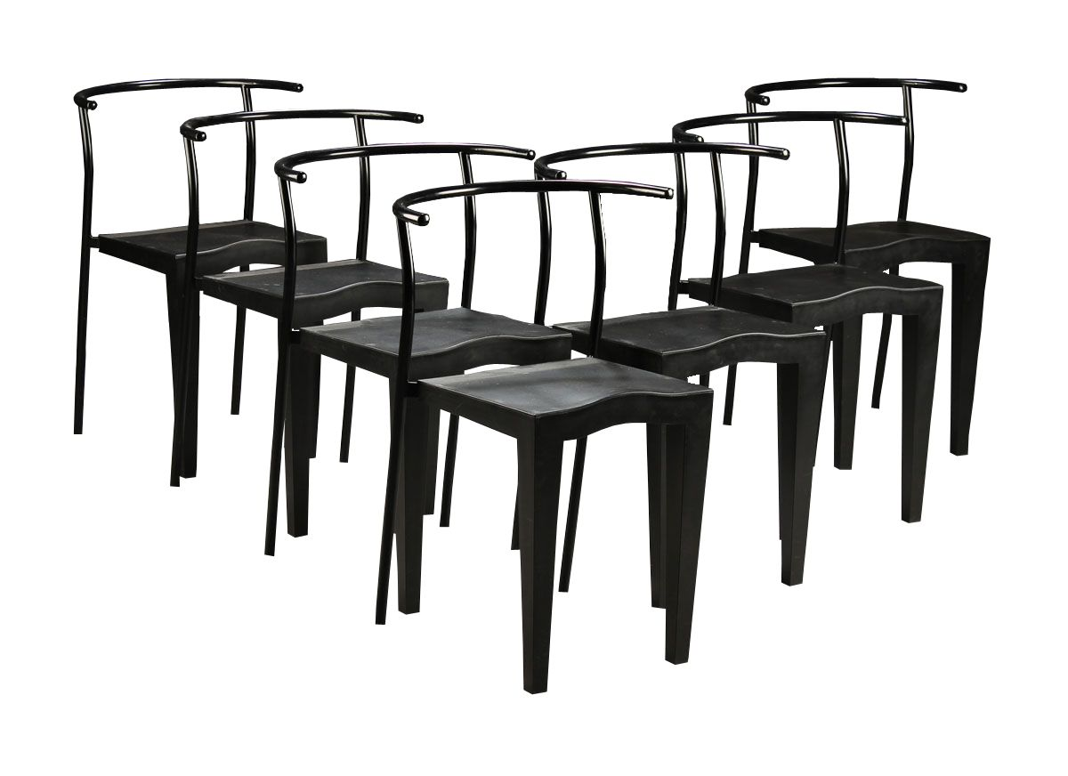 Dr glob steel polypropylene chairs by philippe starck for kartell set - Chaise philippe starck ...
