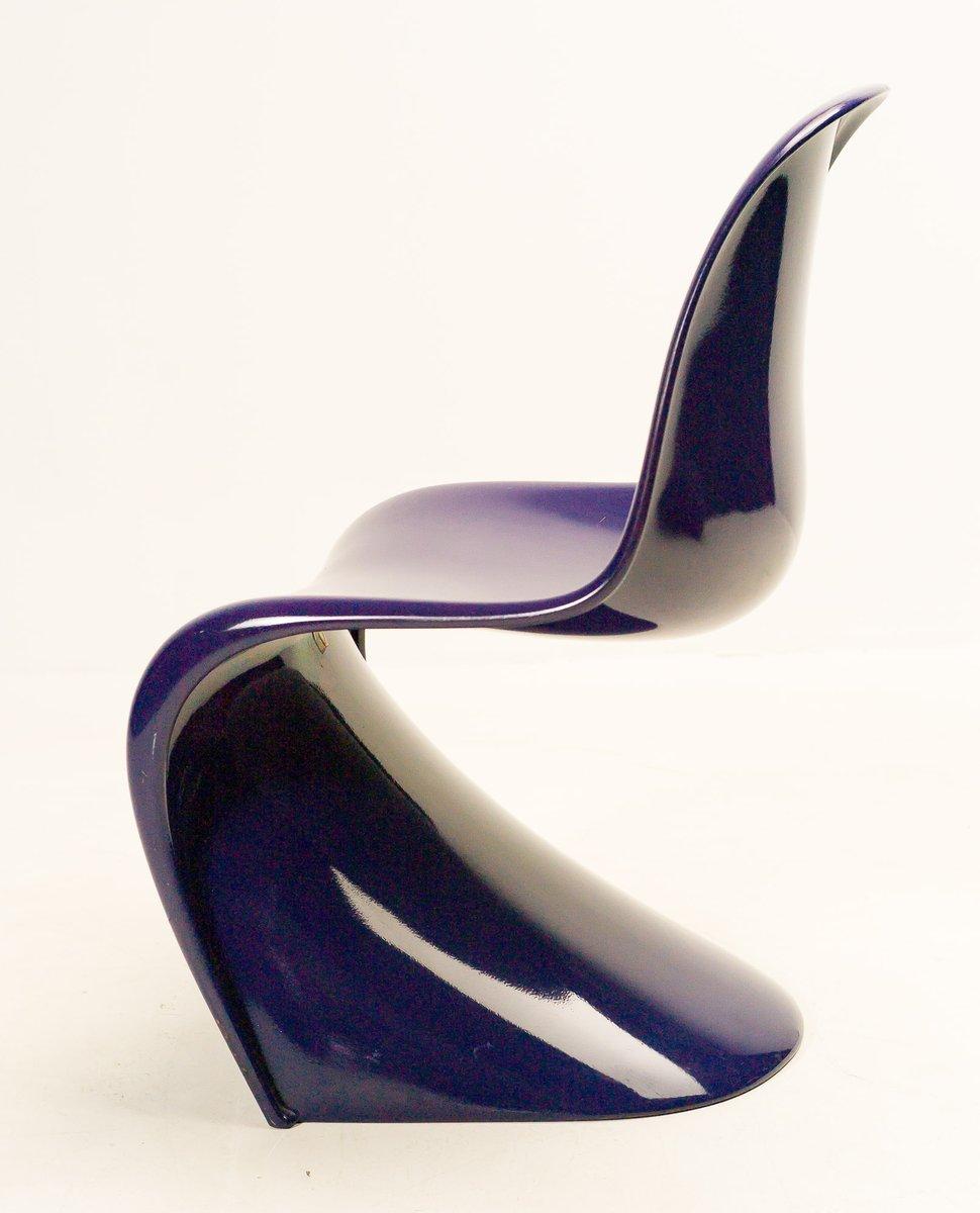 chaises panton violettes par verner panton pour herman miller 1968 set de 4 en vente sur pamono. Black Bedroom Furniture Sets. Home Design Ideas
