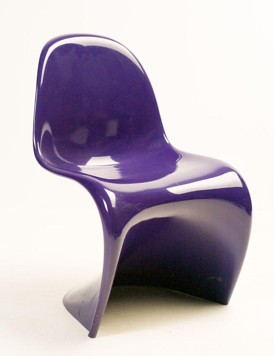 purple panton chairs by verner panton for herman miller 1968 set of 4 for sale at pamono. Black Bedroom Furniture Sets. Home Design Ideas