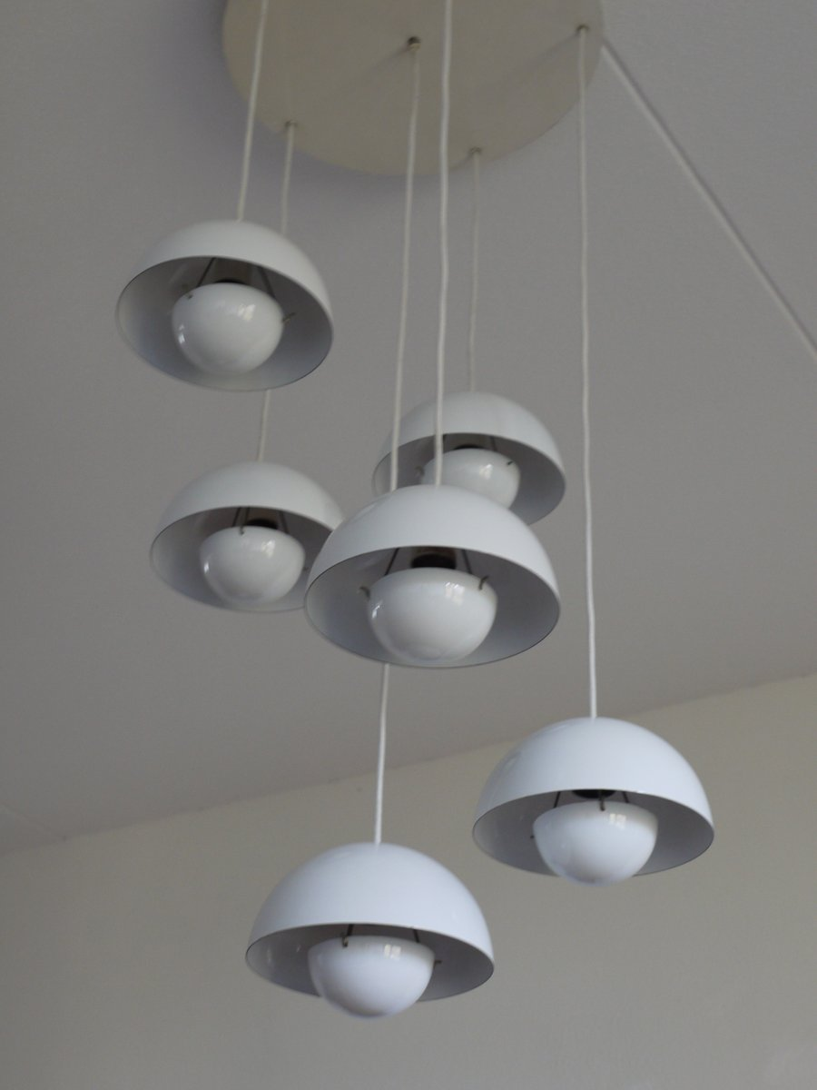 vintage flowerpot chandelier by verner panton for louis poulsen for sale at pamono. Black Bedroom Furniture Sets. Home Design Ideas
