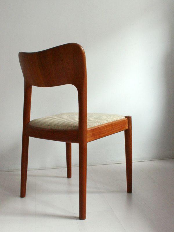 Chaises de salon vintage par niels koefoeds pour hornslet for Chaise pour salon