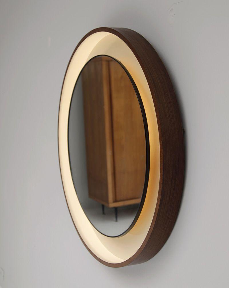 Dekorativer spiegel mit holzrahmen 1960er bei pamono kaufen for Spiegel englisch
