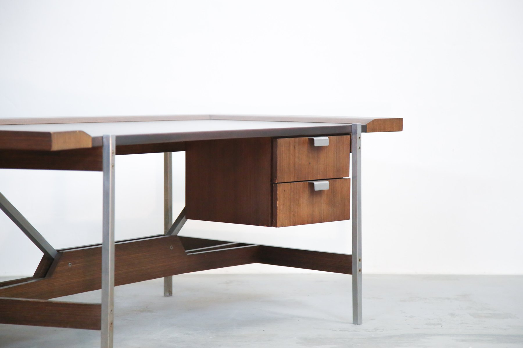 Vintage rosewood modernist office desk for sale at pamono - Retro office desk ...