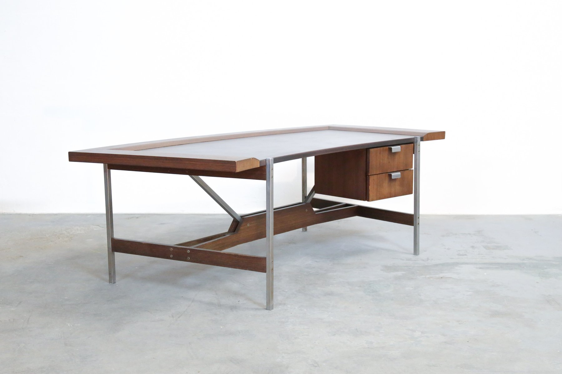 Vintage Rosewood Modernist Office Desk