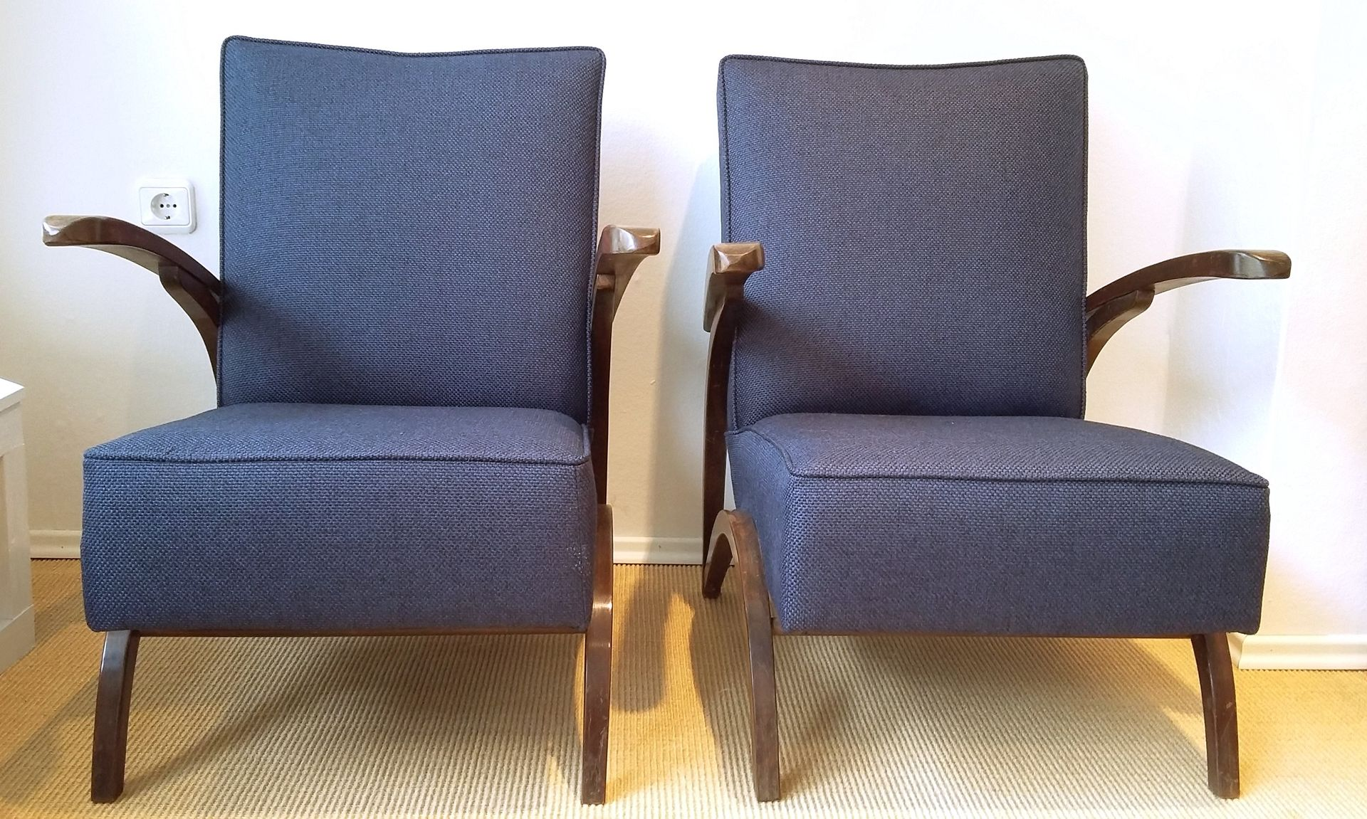 Vintage Armchairs By Jindrich Halabala, 1930s, Set Of 2