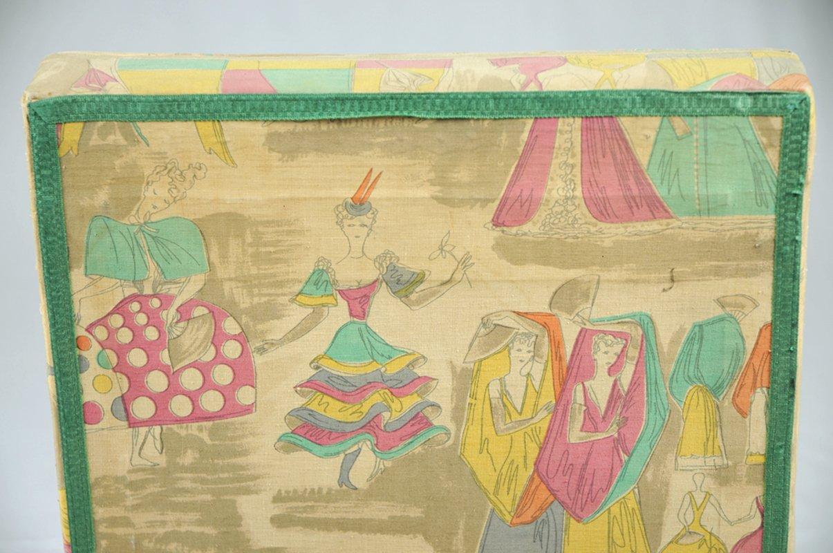 Fauteuils de chambre à coucher vintage par gio ponti fabric pour ...