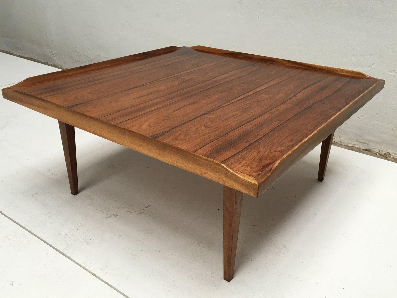 Wonderful Square Danish Rosewood Coffee Table, 1960s