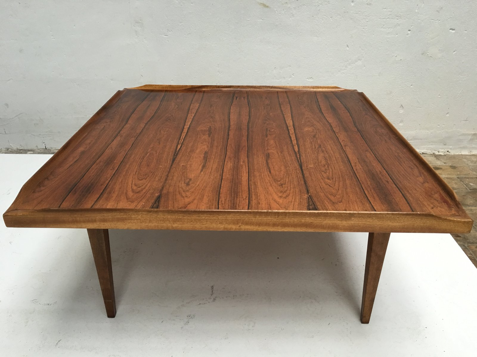 Square danish rosewood coffee table 1960s for sale at pamono - Table basse palissandre ...