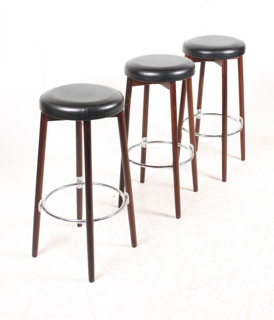 danish midcentury bar stools s set of  for sale at pamono - danish midcentury bar stools s set of