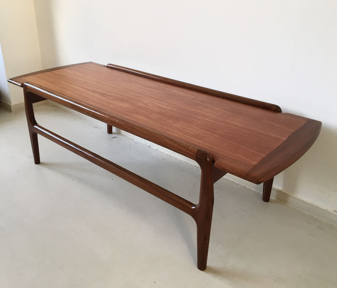 reversible danish teak coffee table, 1950s for sale at pamono