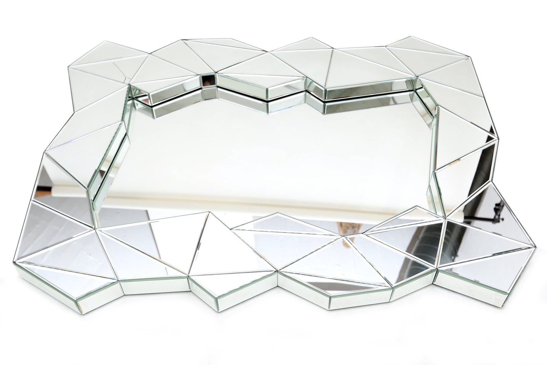 Geometric mirrors 1970s set of 2 for sale at pamono Odd shaped mirrors