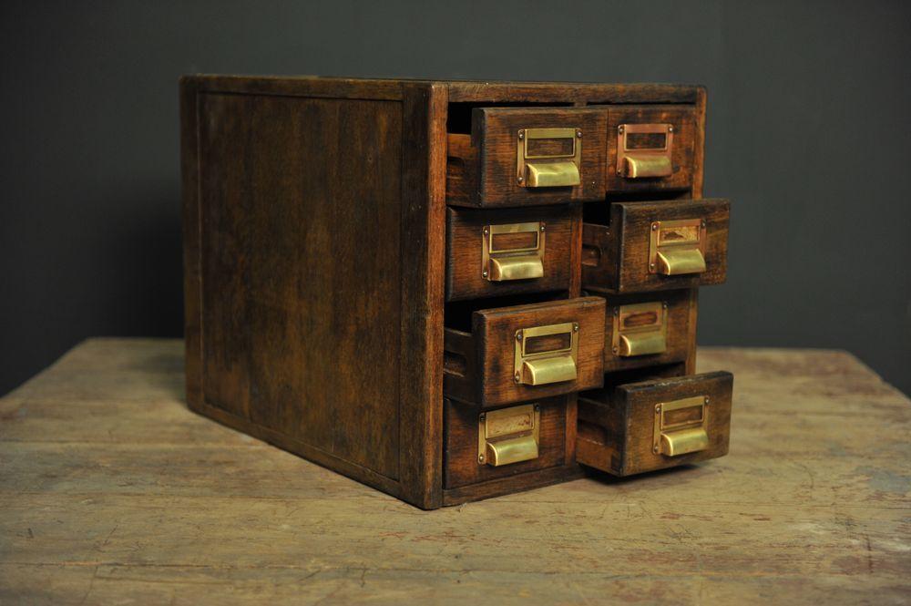 petite bo te de rangement en bois avec huit tiroirs en vente sur pamono. Black Bedroom Furniture Sets. Home Design Ideas