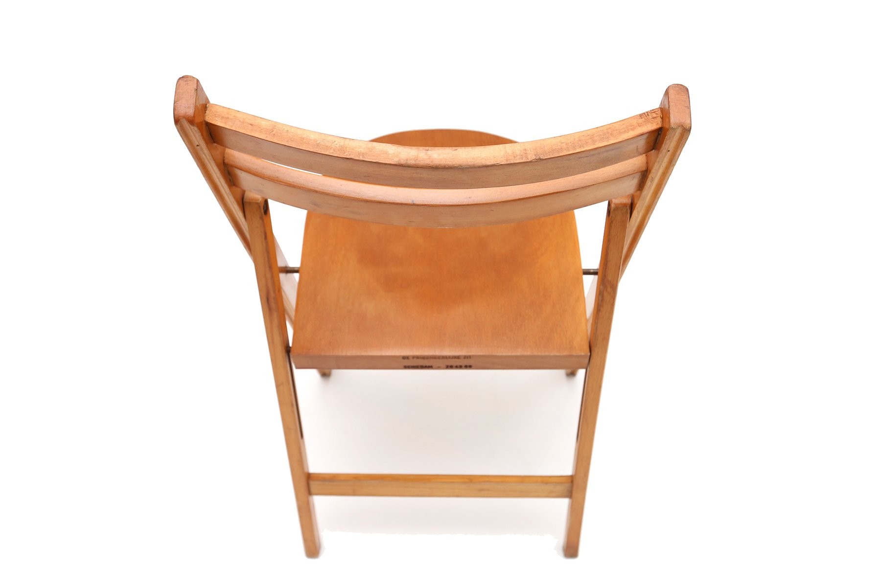Mid Century Beech Folding Chairs 1950s Set Of 10 For