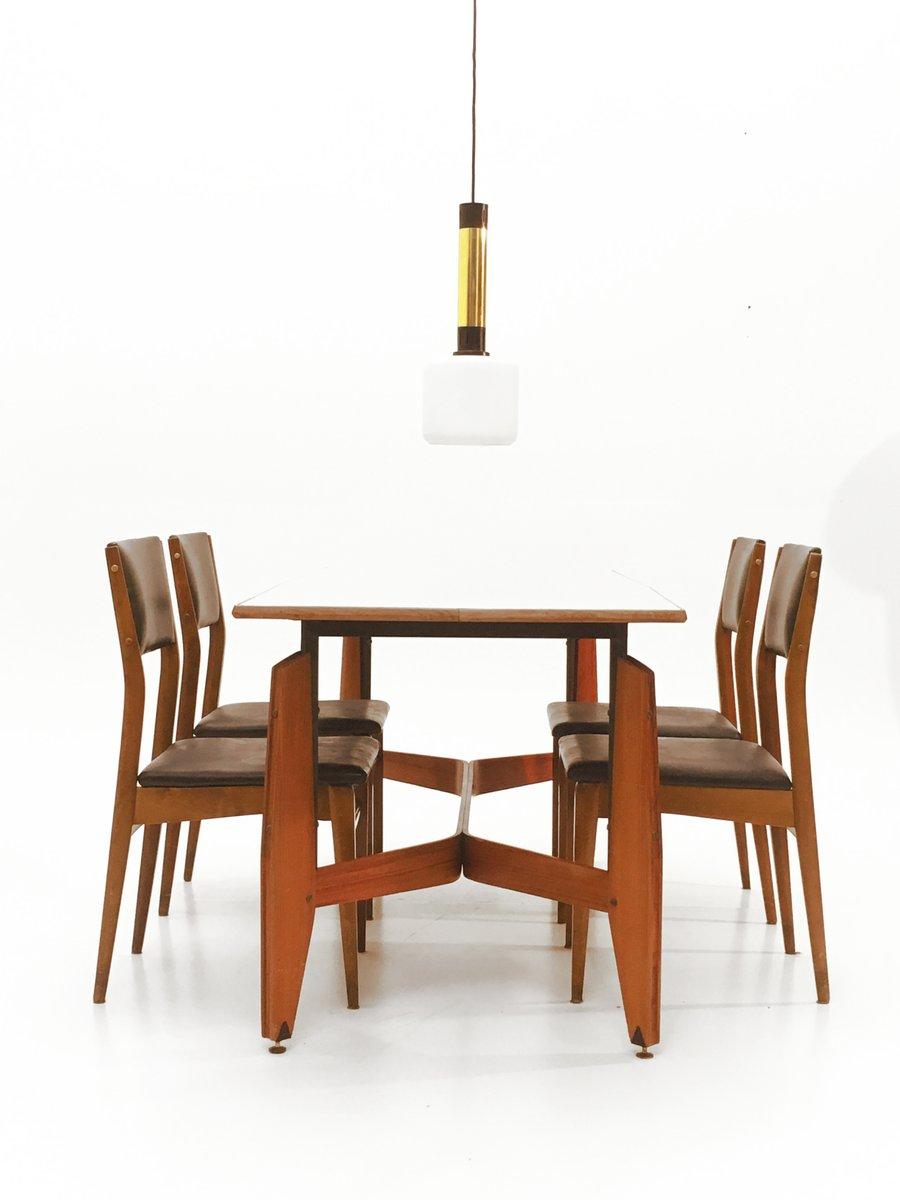 Italienischer esstisch mit messing details 1960er bei for Esstisch italian design