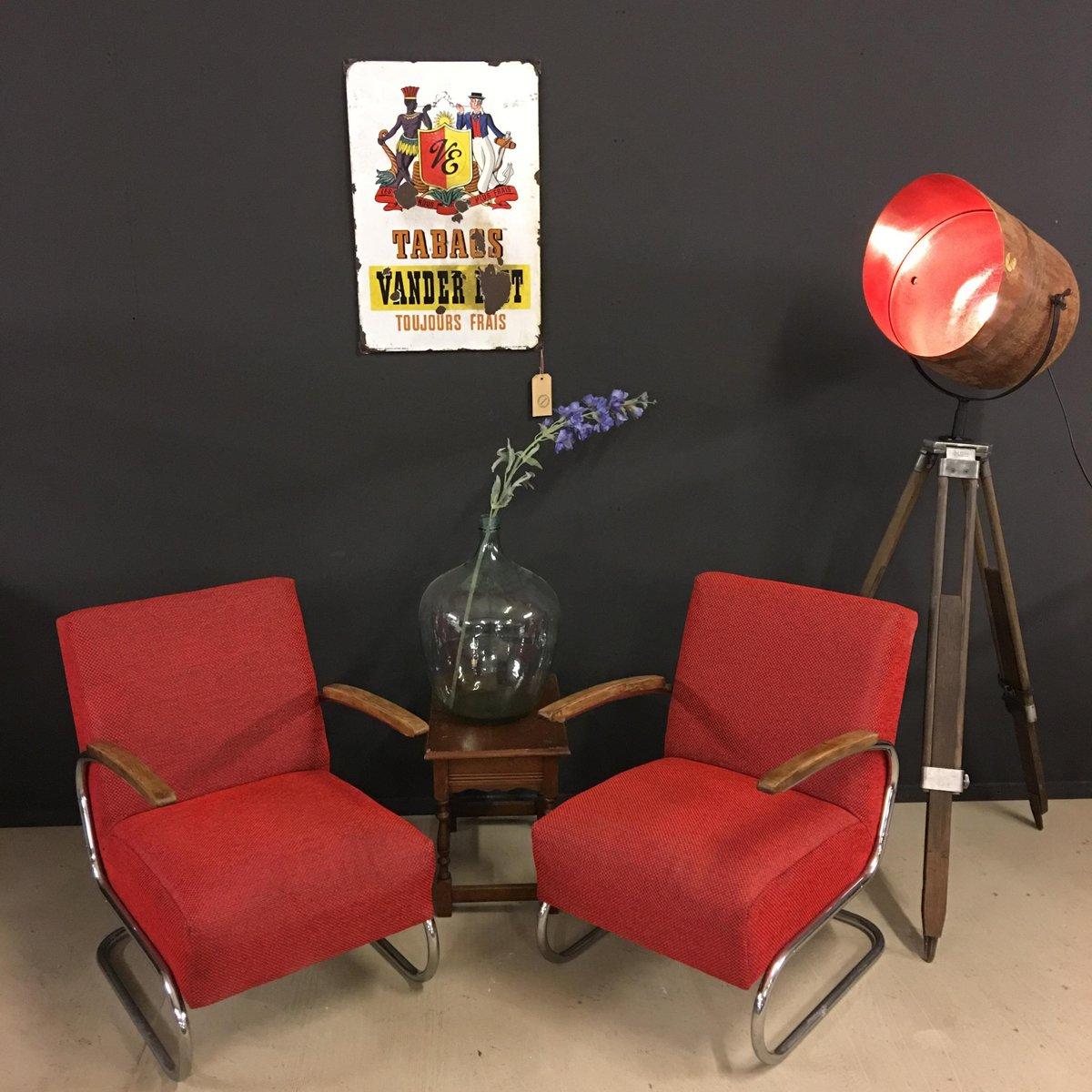 s411 armlehnst hle von thonet 2er set bei pamono kaufen. Black Bedroom Furniture Sets. Home Design Ideas