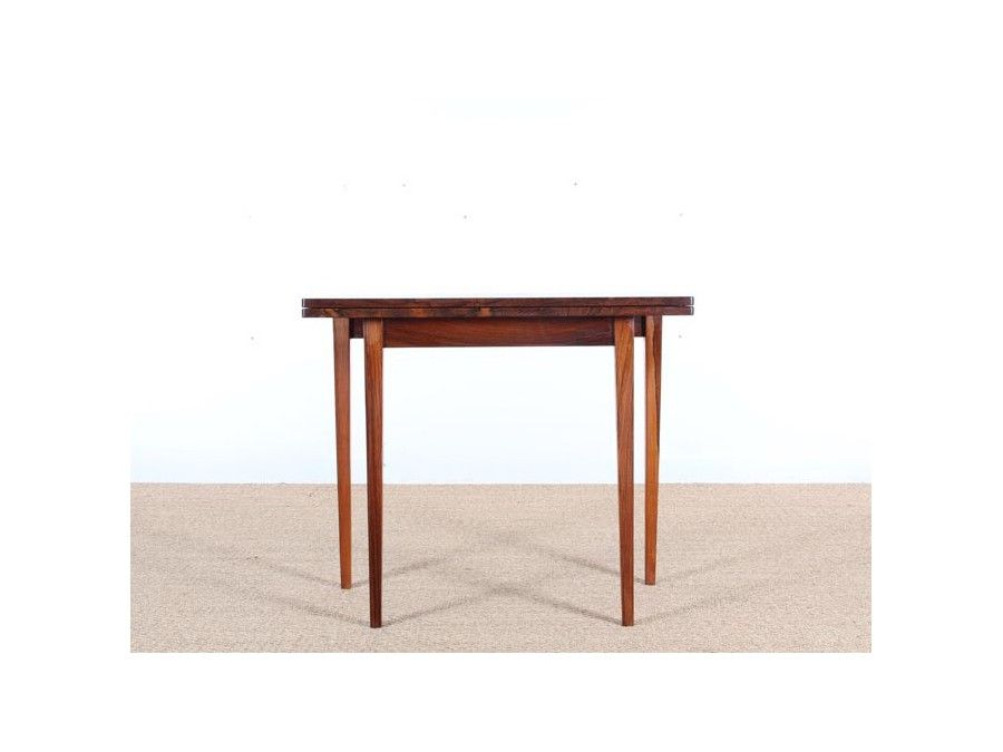 Mid Century Rosewood Fold Out Side Table For Sale At Pamono