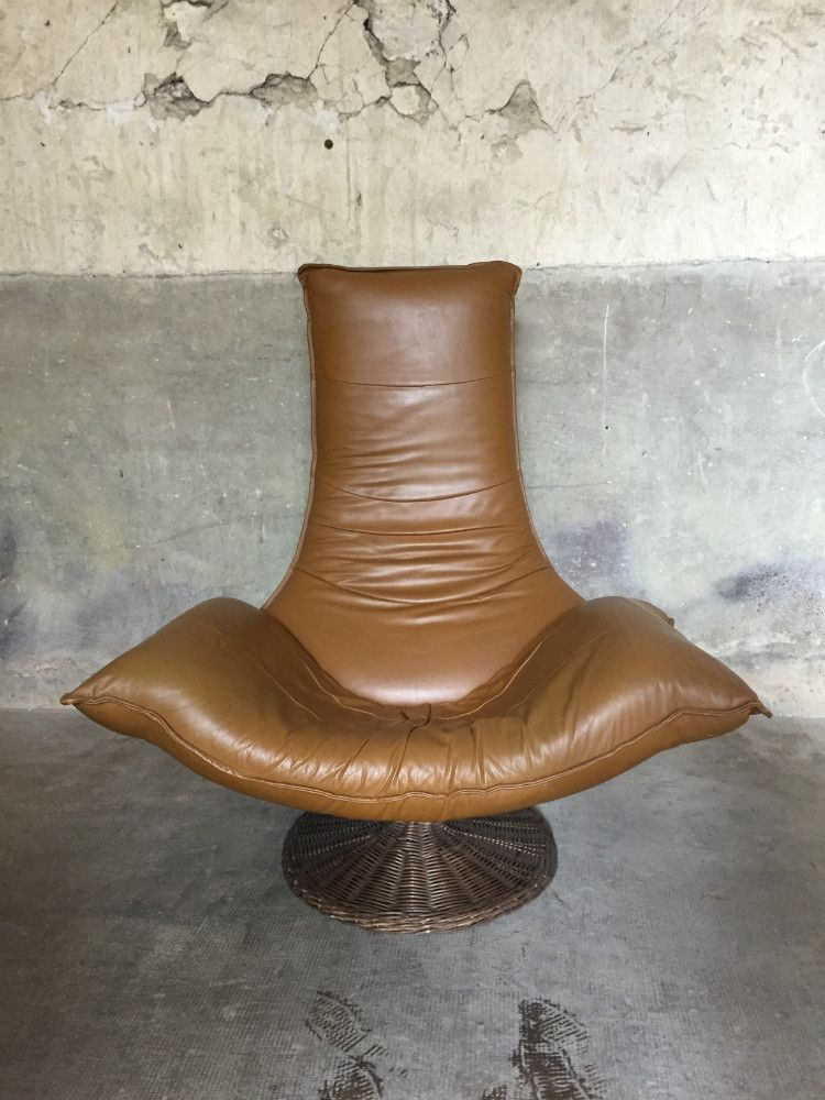 vintage ledersessel von gerard van den berg f r montis 1970er bei pamono kaufen. Black Bedroom Furniture Sets. Home Design Ideas