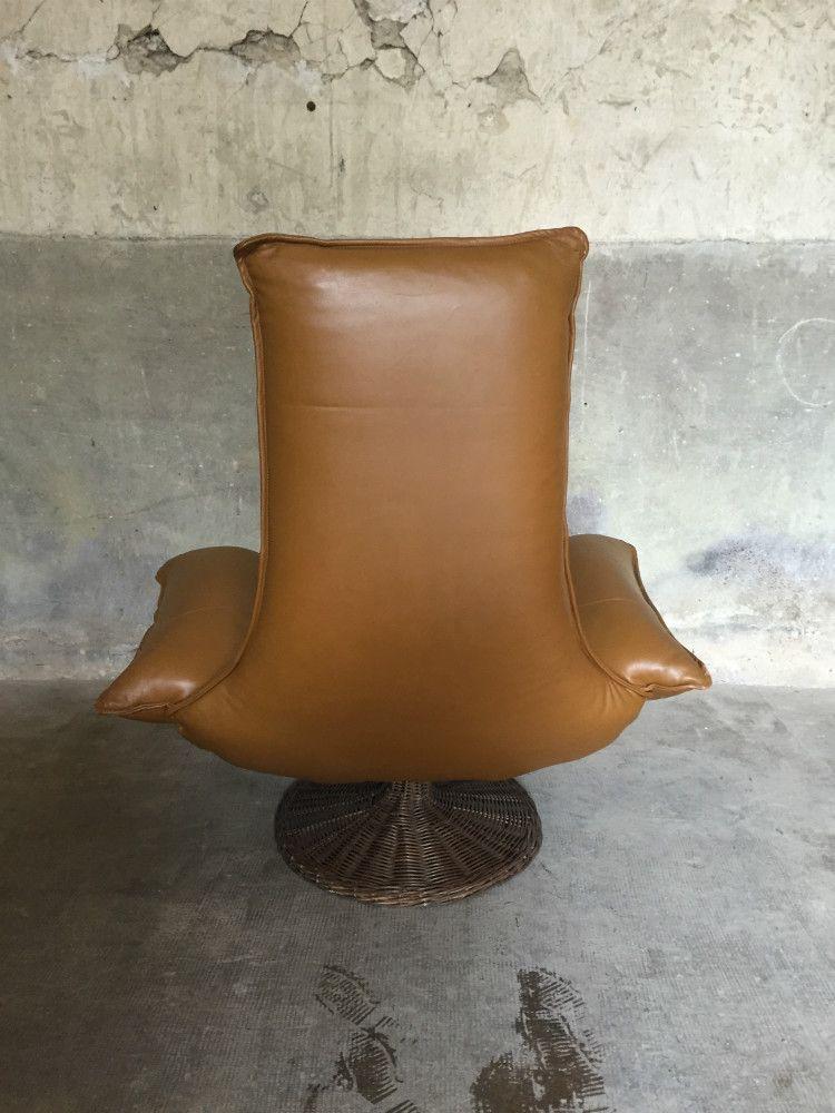 vintage ledersessel von gerard van den berg f r montis. Black Bedroom Furniture Sets. Home Design Ideas
