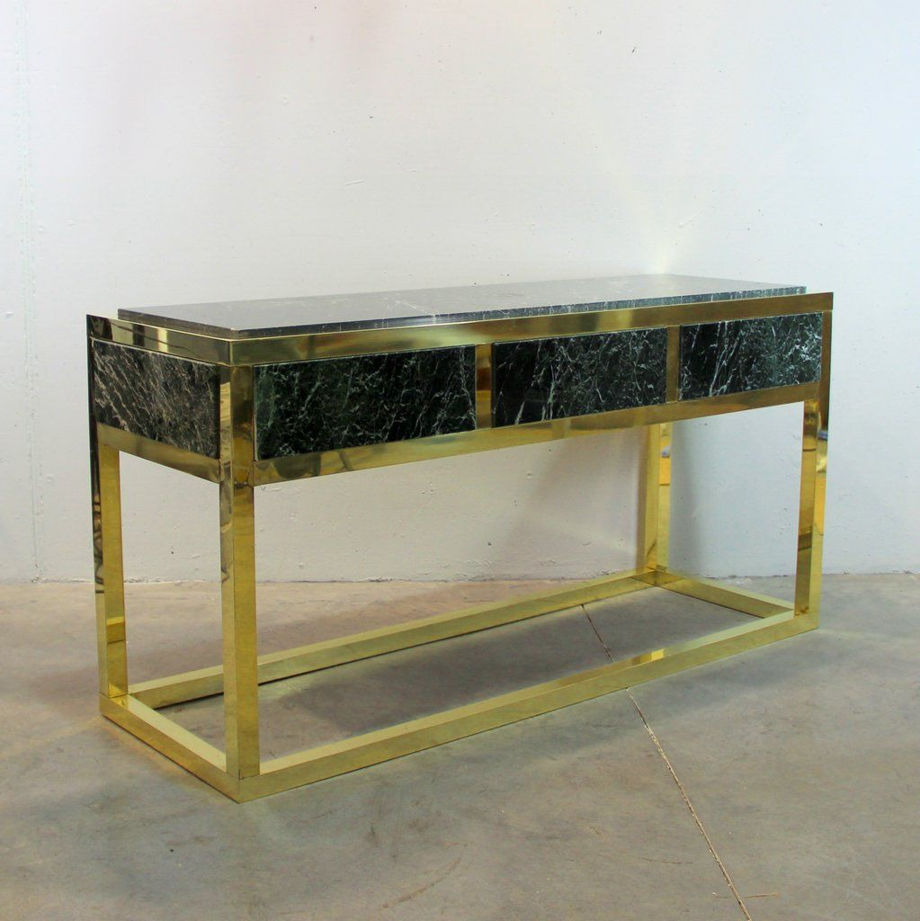table console en marbre et laiton espagne 1970s en vente. Black Bedroom Furniture Sets. Home Design Ideas