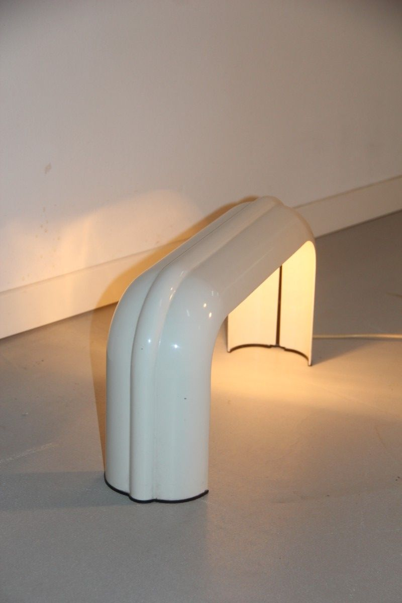 White Table Lamp By Luciano Annichini For Artemide 1970s