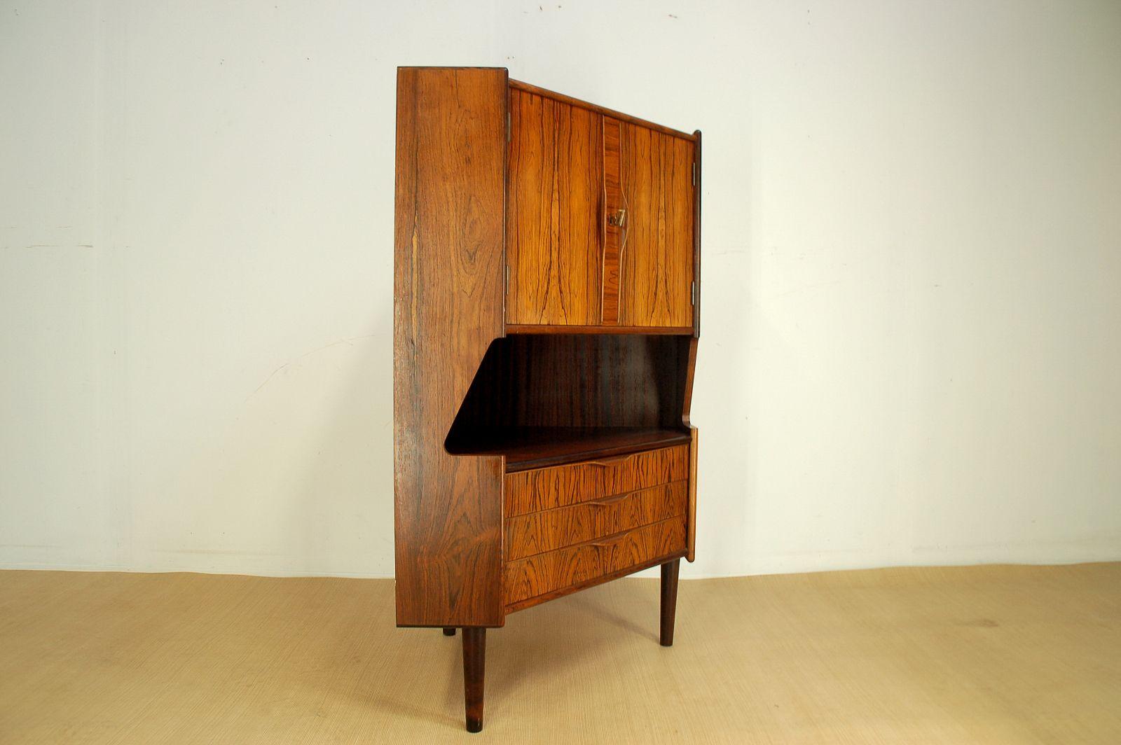Mid Century Corner Cabinet: Mid-Century Rosewood Corner Bar Cabinet, 1960s For Sale At