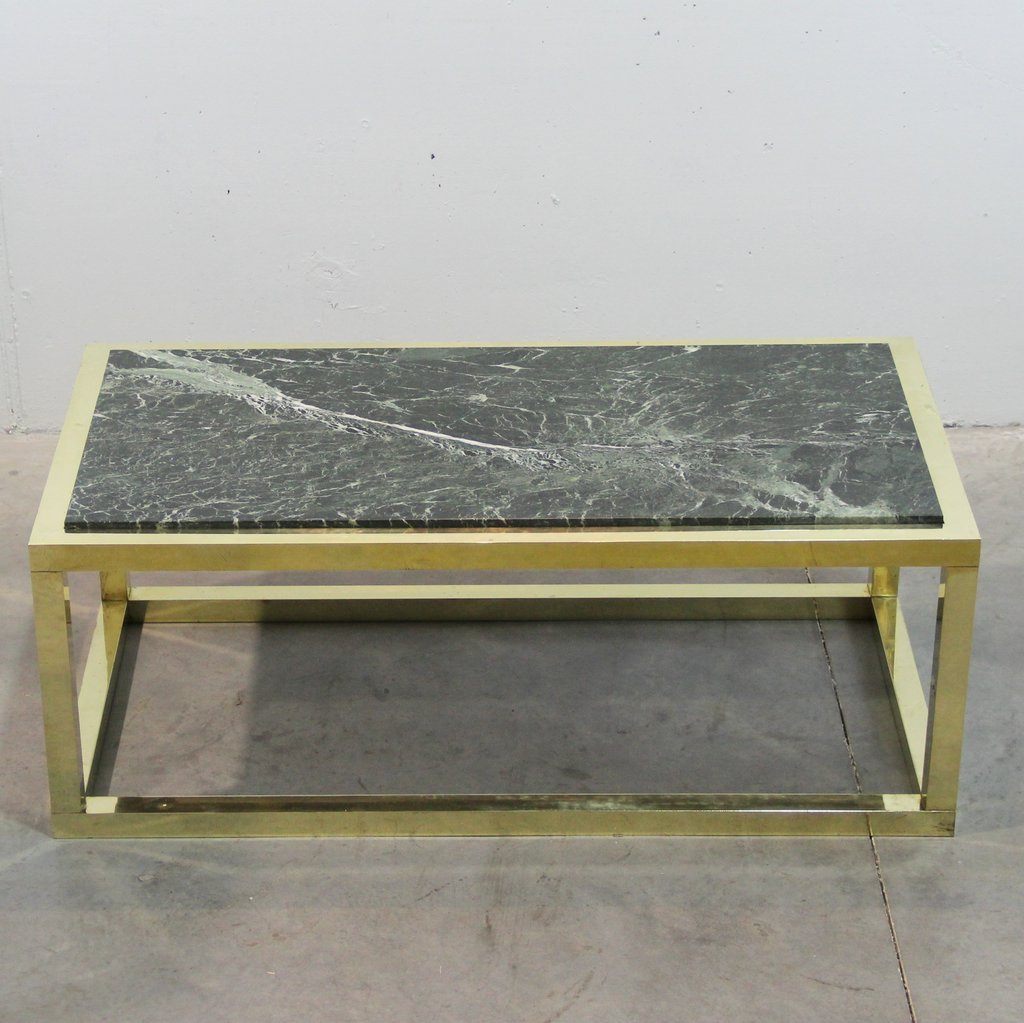 spanish vintage marble brass coffee table 1970s for. Black Bedroom Furniture Sets. Home Design Ideas