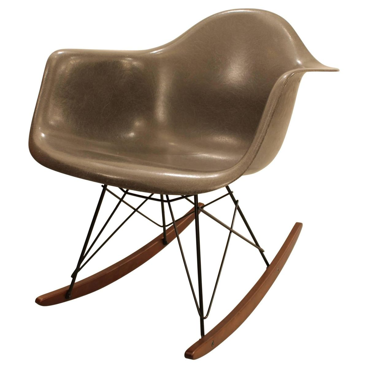 grauer rocking chair von charles ray eames f r herman miller 1960er bei pamono kaufen. Black Bedroom Furniture Sets. Home Design Ideas