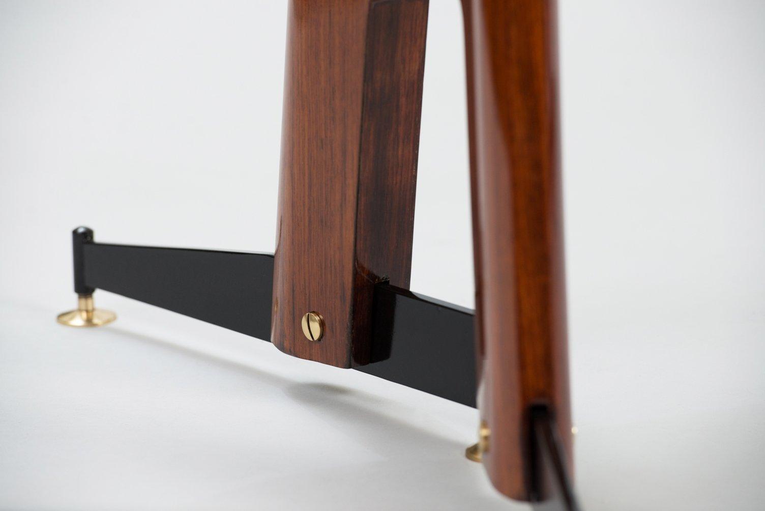 Table de salle manger vintage en palissandre avec for Table de salle a manger 4 metres
