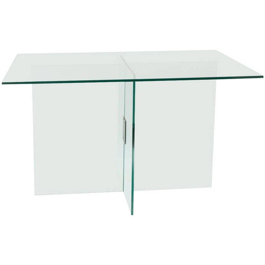 Table de salle manger en verre et laiton par fontana for Salle a manger en verre