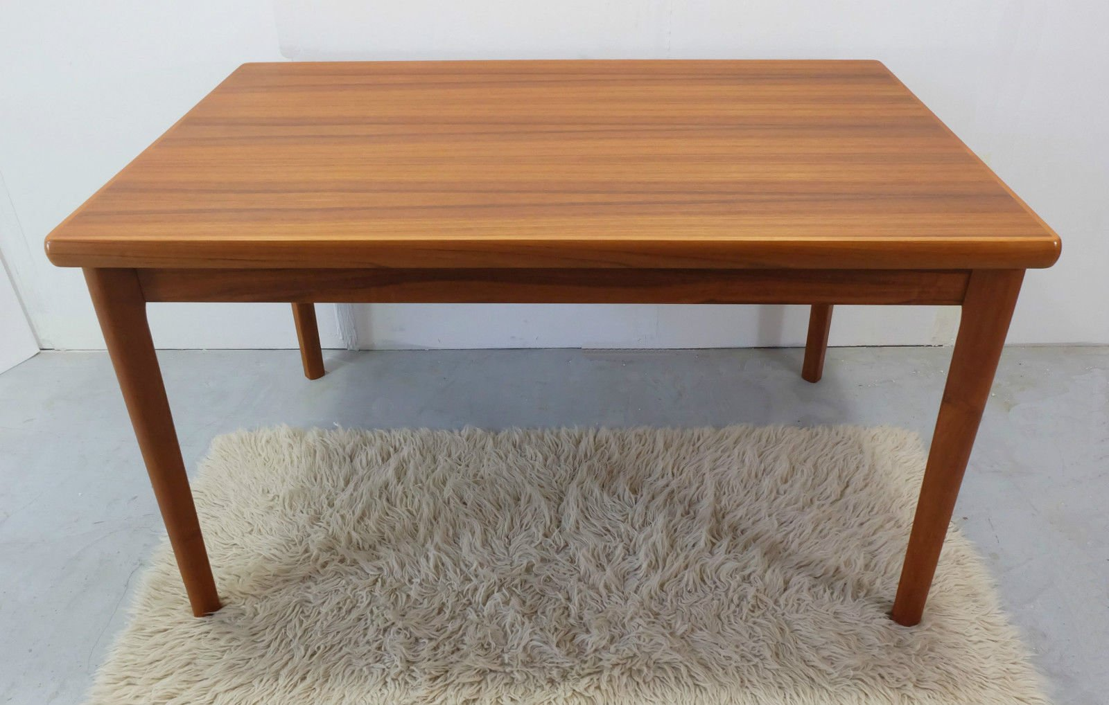 danish teak dining table with two extension leaves 1970s for sale at