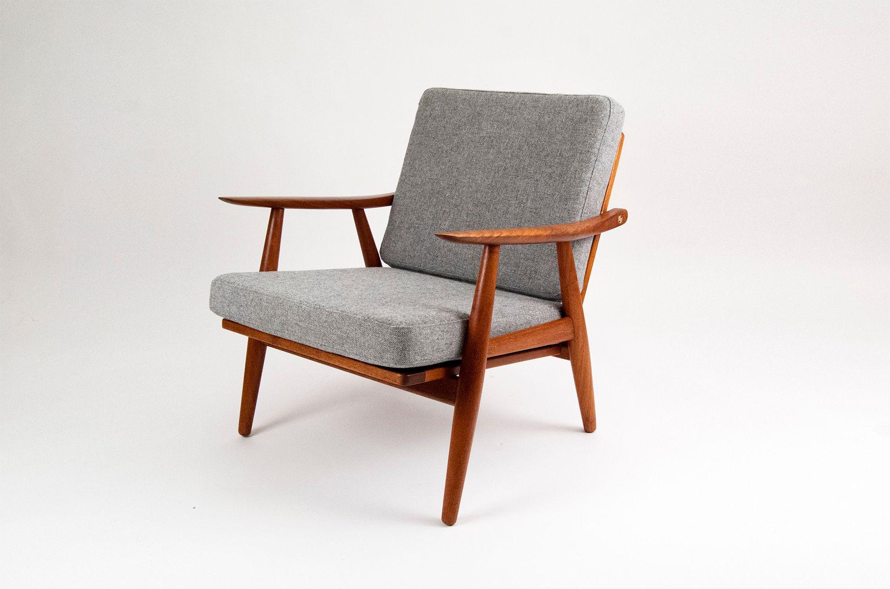 ge 270 teak lounge sessel von hans wegner f r getama 2er. Black Bedroom Furniture Sets. Home Design Ideas