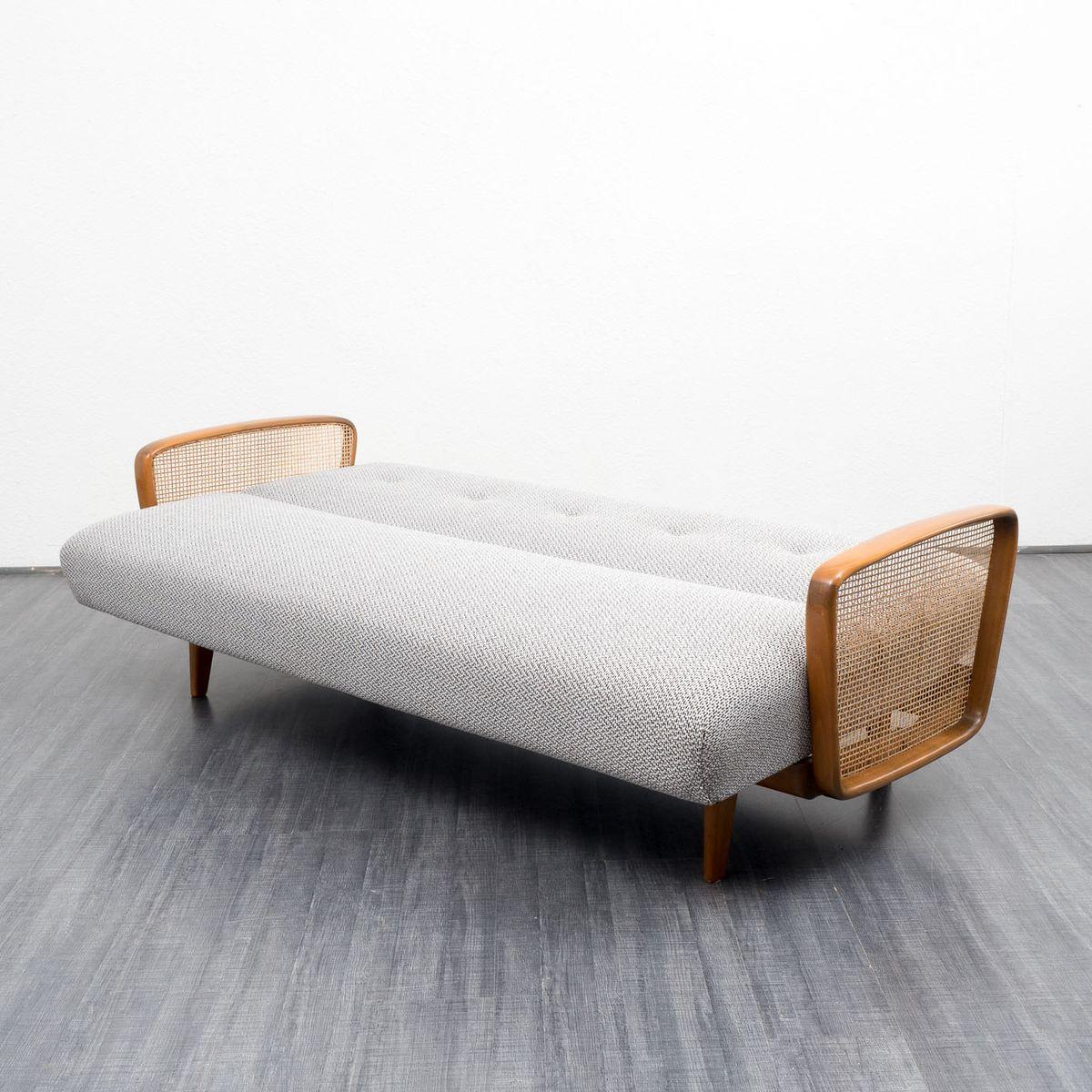 ausklappbares sofa mit salz und pfeffer muster 1950er bei. Black Bedroom Furniture Sets. Home Design Ideas