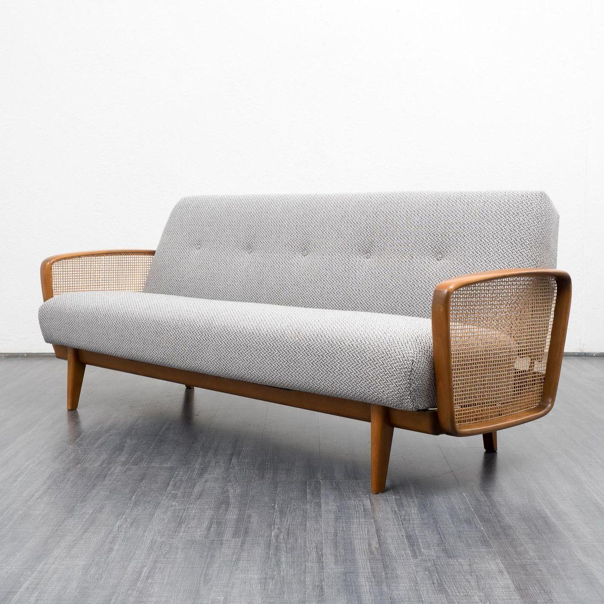 ausklappbares sofa mit salz und pfeffer muster 1950er bei pamono kaufen. Black Bedroom Furniture Sets. Home Design Ideas