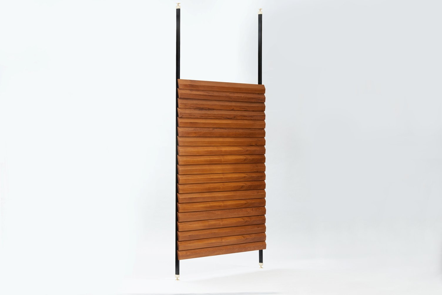 vintage italian teak and brass room divider for sale at pamono