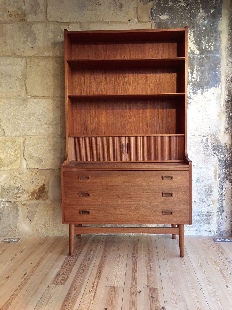 modernes d nisches highboard mit b cherregal und schreibtisch von b rge mogensen bei pamono kaufen. Black Bedroom Furniture Sets. Home Design Ideas