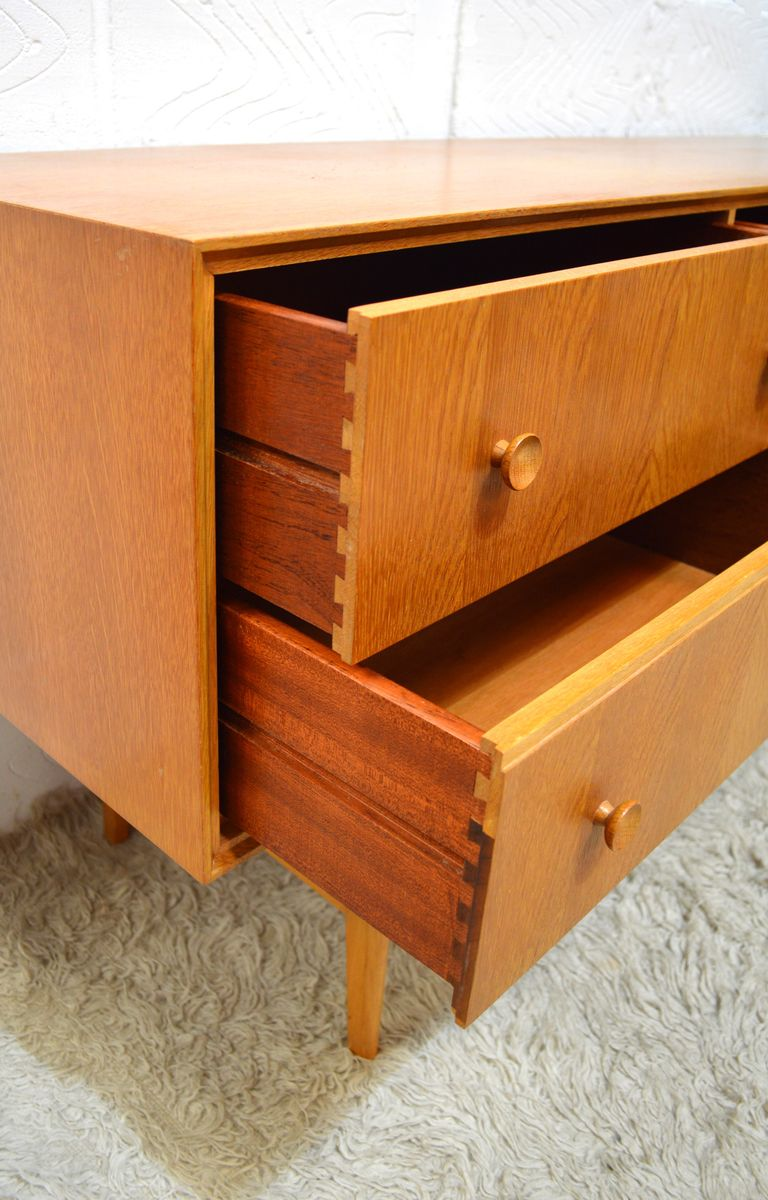 British oak chest of drawers from meredew 1960s for sale for British traditions kitchen cabinets