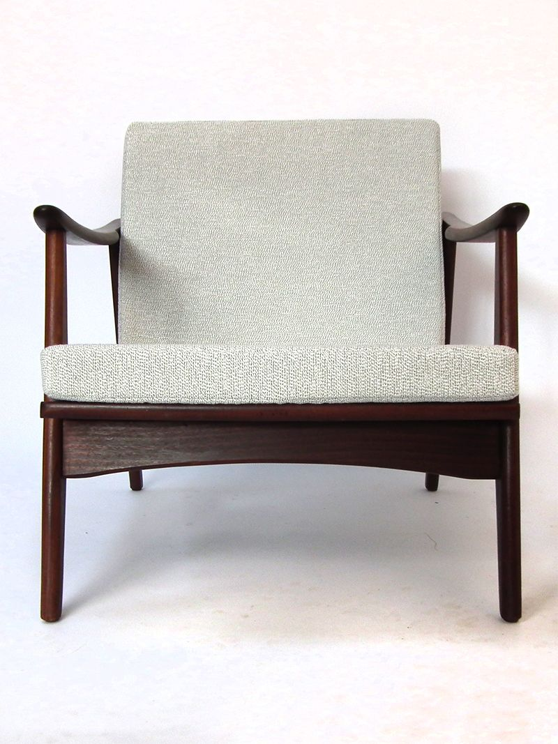 mid century teak furnier lounge stuhl bei pamono kaufen. Black Bedroom Furniture Sets. Home Design Ideas
