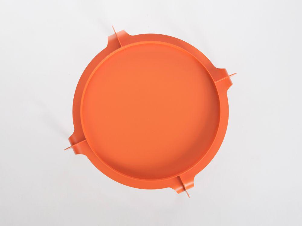 Hafucha beistelltisch in orange von bakery studio bei for Beistelltisch orange