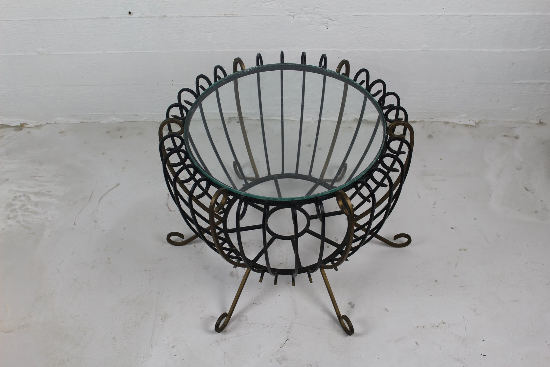 Vintage Wrought Iron Coffee Table For Sale At Pamono