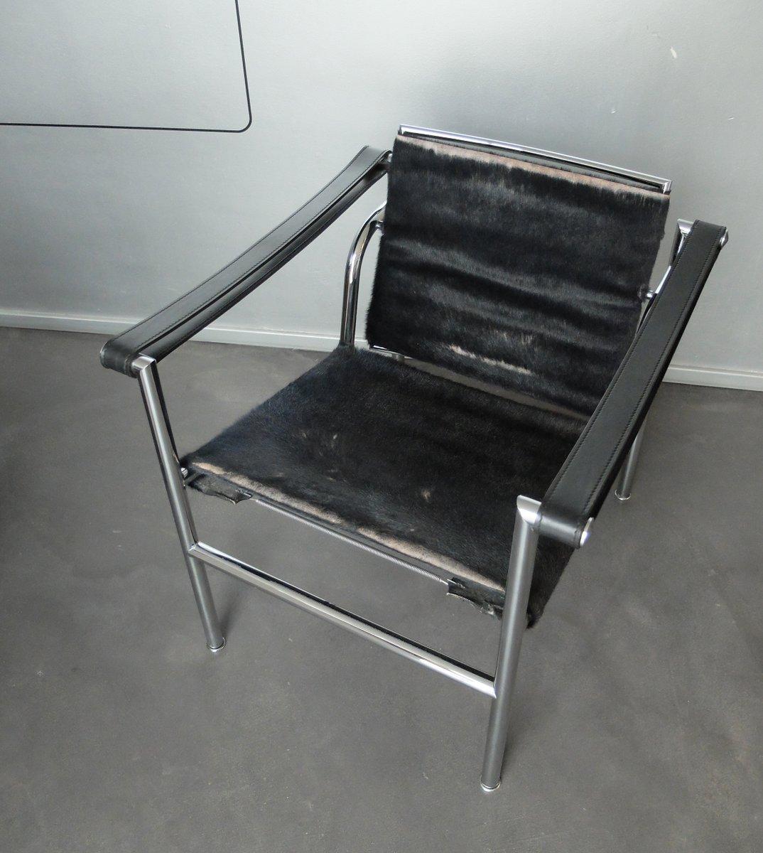 lc1 lounge stuhl von le corbusier jeanneret perriand f r cassina bei pamono kaufen. Black Bedroom Furniture Sets. Home Design Ideas