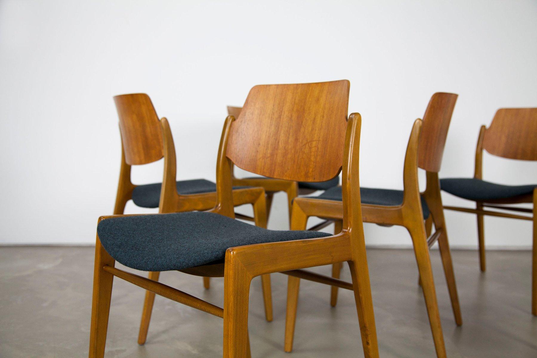st hle aus holz von hartmut lohmeyer f r wilkhahn 6er set bei pamono kaufen. Black Bedroom Furniture Sets. Home Design Ideas