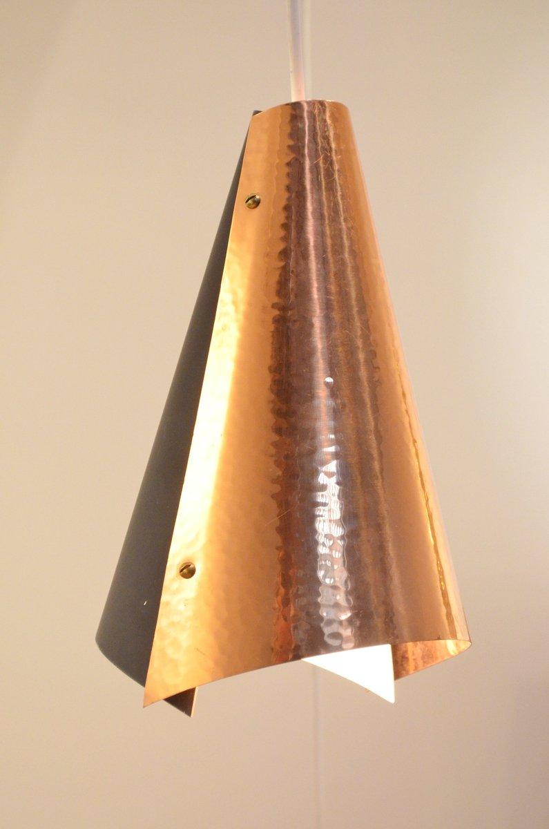 d nische h ngelampe aus kupfer metall mit drei leuchten. Black Bedroom Furniture Sets. Home Design Ideas