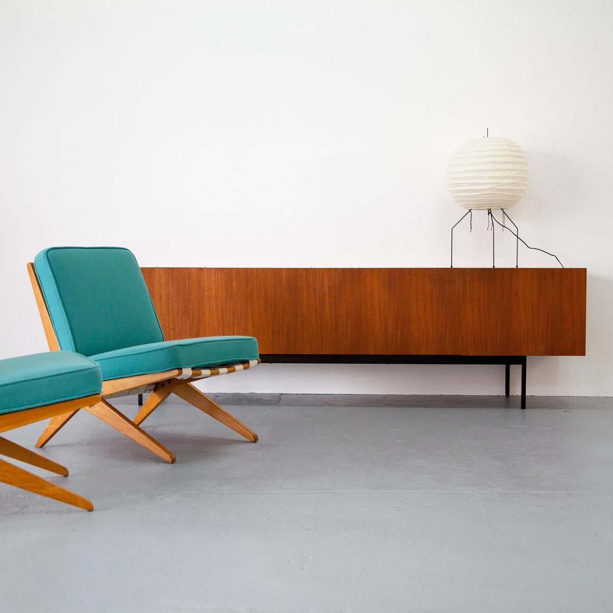 b40 mid century teak sideboard by dieter waeckerlin for. Black Bedroom Furniture Sets. Home Design Ideas