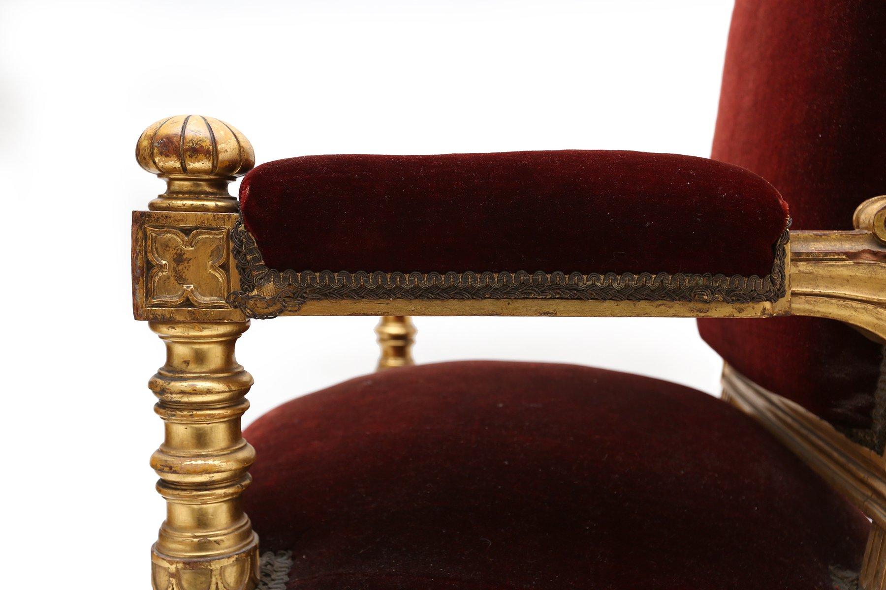 Antique velvet chair - Price Per Set