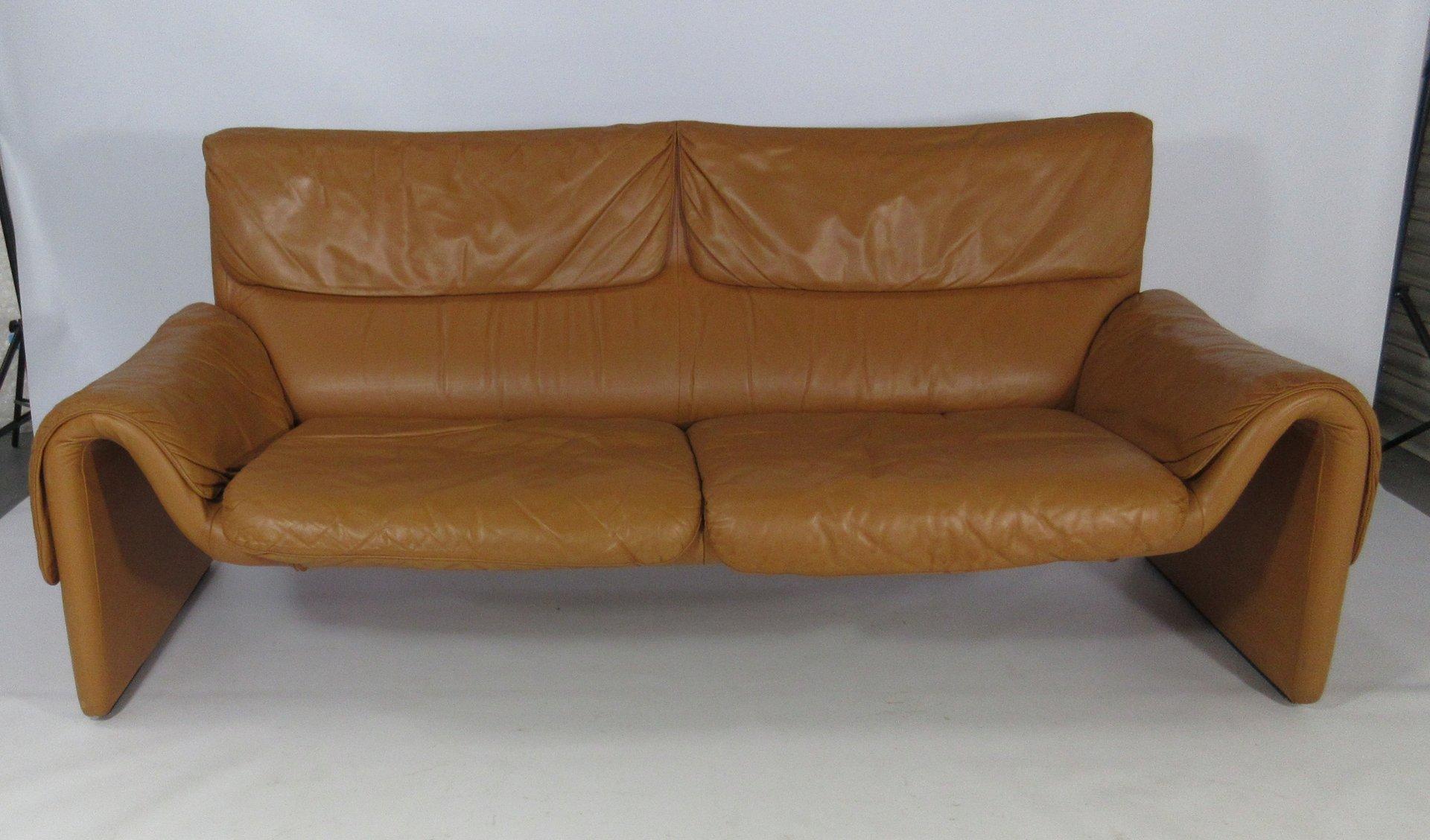 modell ds 2011 sofa aus leder in hellbraun von de sede bei pamono kaufen. Black Bedroom Furniture Sets. Home Design Ideas