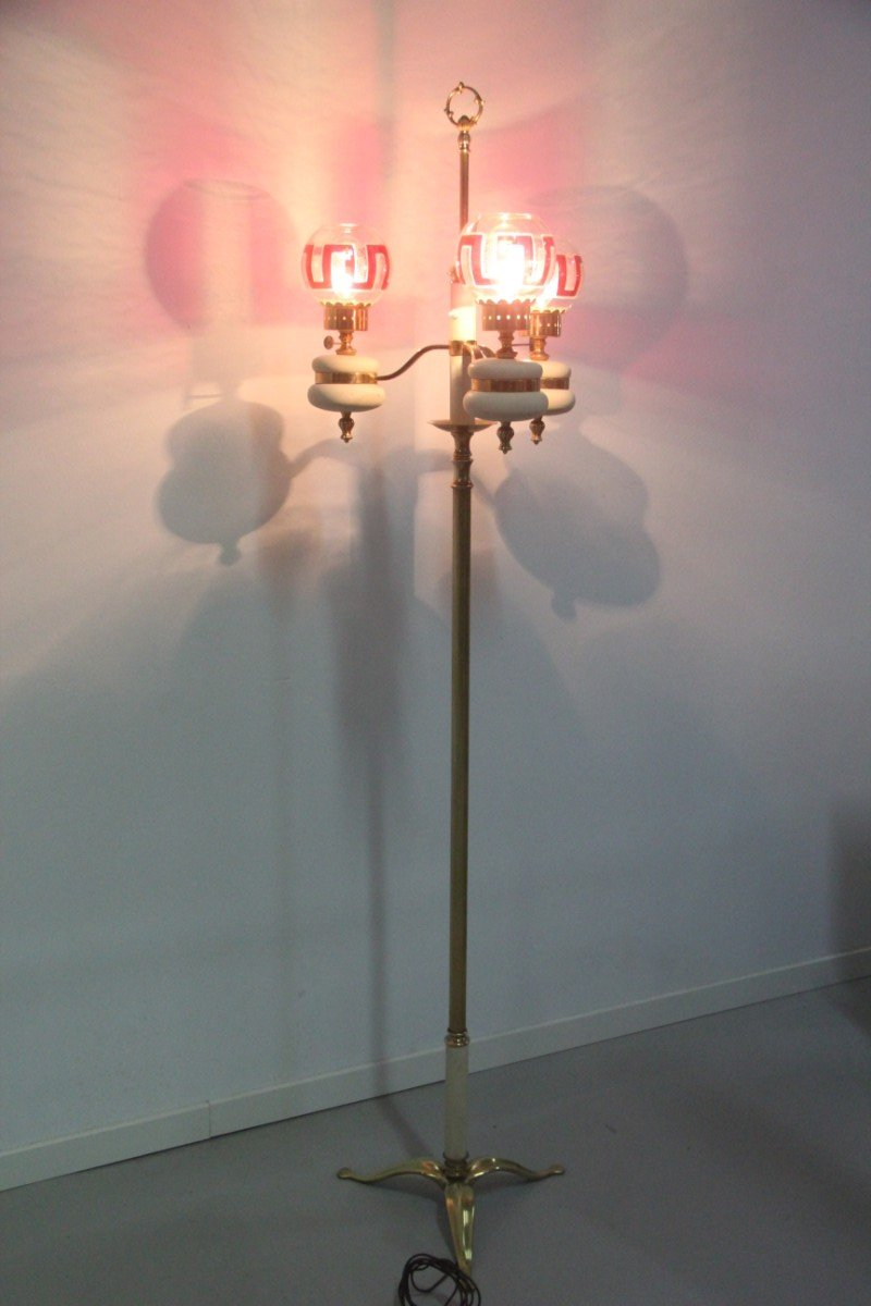 Mid century italian brass floor lamp 1950 for sale at pamono for 1950 floor lamp