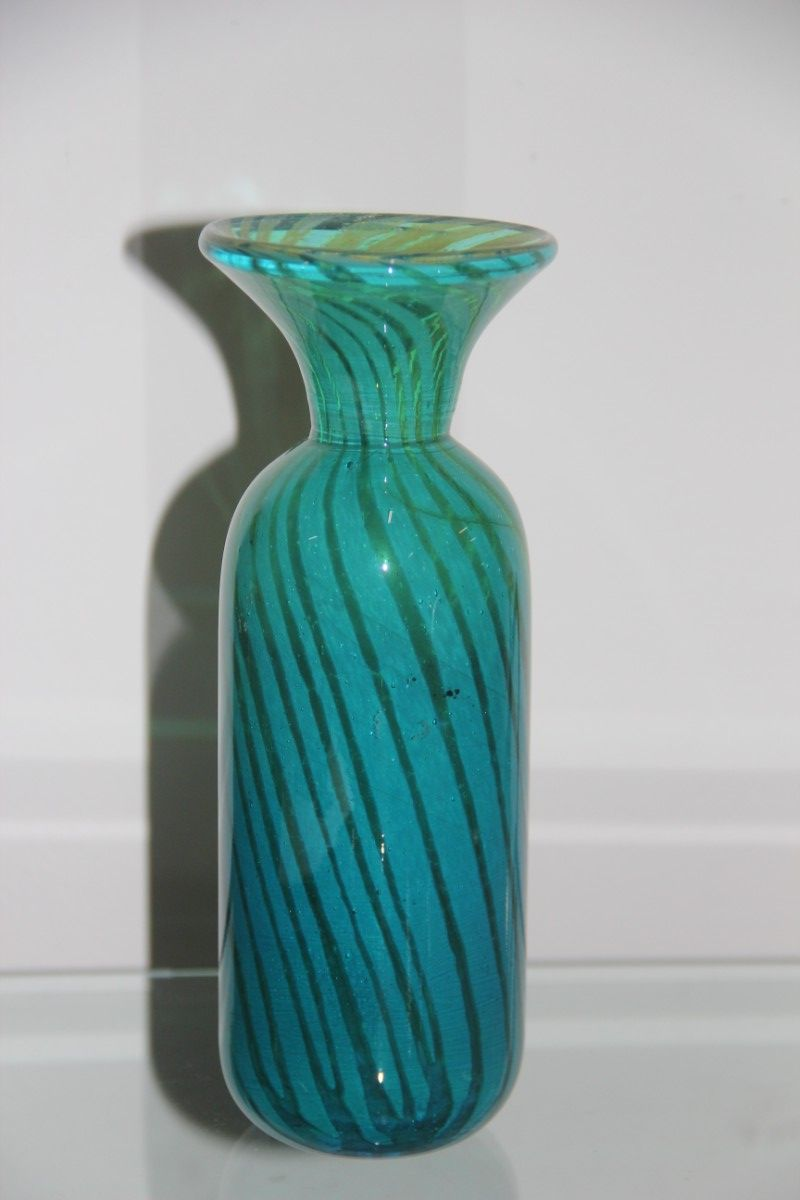 maltese glass vase from medina design 1970s for sale at pamono. Black Bedroom Furniture Sets. Home Design Ideas