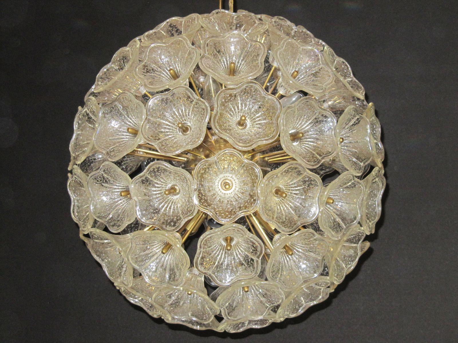 deckenlampe aus muranoglasblumen bei pamono kaufen. Black Bedroom Furniture Sets. Home Design Ideas